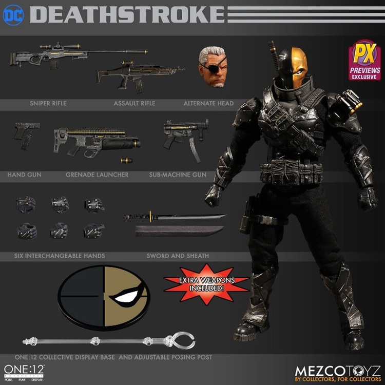 MEZCO(蚂蚁) ONE:12 1/12 6寸 DC Stealth Deathstroke PX Preview Exclusive 丧钟 秘密行动潜行Ver. PX限定