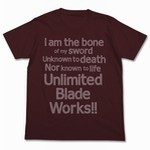 Fate/stay night Unlimited Blade Works T恤 BURGUNDY